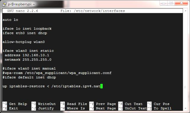 Wi-Fi AP Raspberry Pi-3