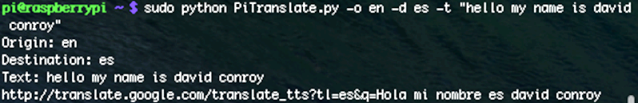 Translation Raspberry Pi-4