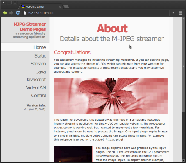 Просматриваем видеопоток с камеры Raspberry Pi через веб